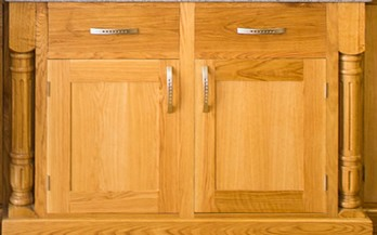 Our Fluted Kitchen Pilasters Made of Wood