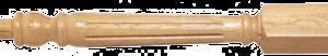 Wood Fluted Newel Posts 120mm