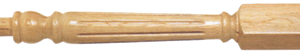 Wood Fluted Newel Posts 90mm